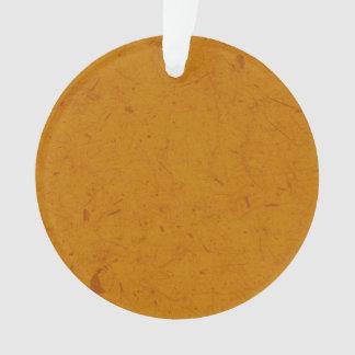 Burnt Orange Papyrus Ornament