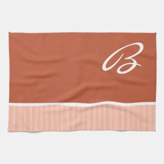 Burnt Orange, Peach Kitchen Towels