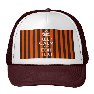 Burnt Orange Personalize This Keep Calm Classic Trucker Hat
