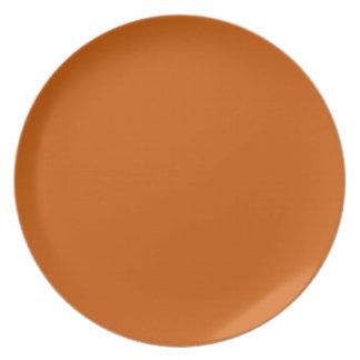 burnt orange plate