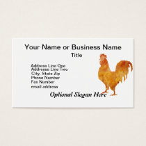 Burnt Orange Rooster Business Card