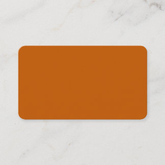 Burnt Orange Rounded Business Card