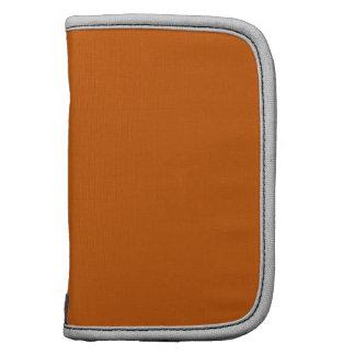 Burnt Orange Silver Contemporary Monochrome Organizers