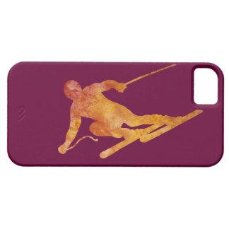 Burnt Orange Slalom Skiier iPhone SE/5/5s Case