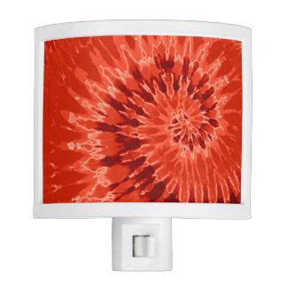 Burnt Orange Spiral Tie Dye Nite Lights