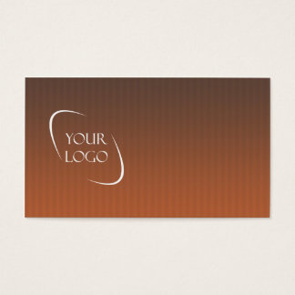 Burnt orange stripes sleek logo business cards