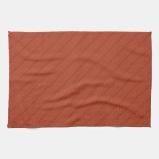 Burnt Orange Stripes, Striped Kitchen Towel