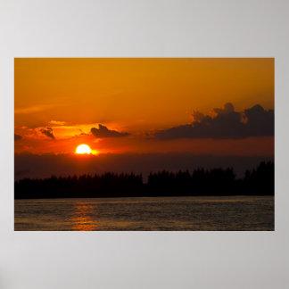 Burnt Orange Sunset Poster