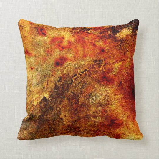 Burnt Orange Tan Abstract Throw Pillow Zazzle Com