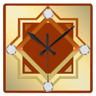 Burnt Orange Toned Wall Clock