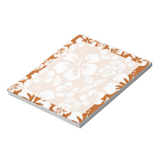 Burnt Orange Tropical Hibiscus Notepad