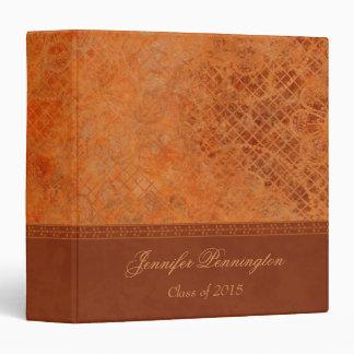 Burnt orange vintage graduation memory book binder