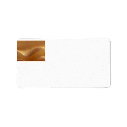 Burnt Orange Wave Dream Address Label