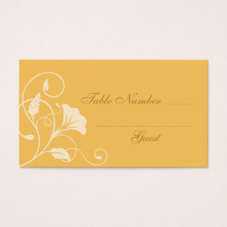 Burnt Orange Wedding Table Assignment Place Cards