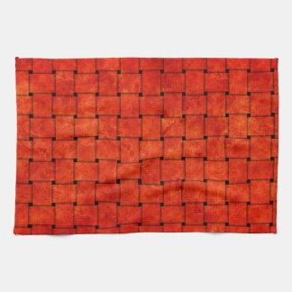 Burnt Orange Woven Together Towels