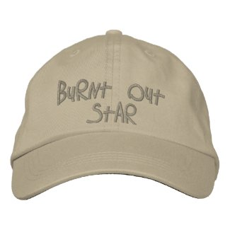 Burnt Out Star by CRaPUSA Embroidered Baseball Cap