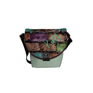 "Burnt & Painted Brick Wall ""Graffiti"" Messenger Bag"