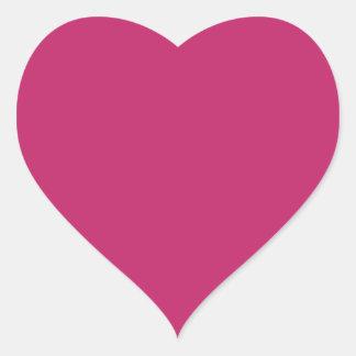 Burnt Pink Heart Sticker