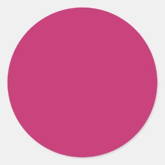 Burnt Pink Large Round Sticker