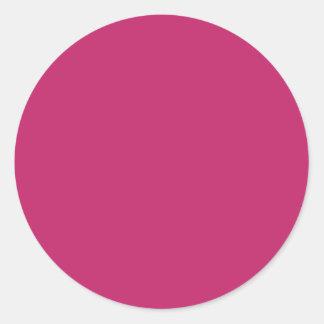 Burnt Pink Round Sticker