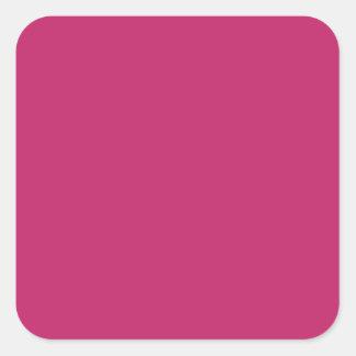 Burnt Pink Square Sticker