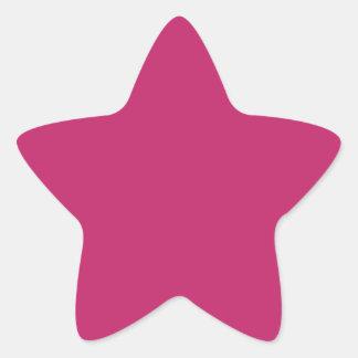 Burnt Pink Star Sticker