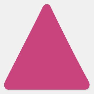 Burnt Pink Triangle Sticker