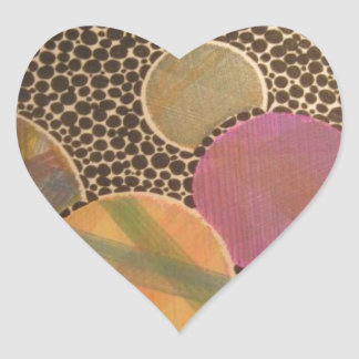 burnt plaid heart sticker