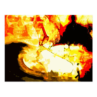 burnt. postcard