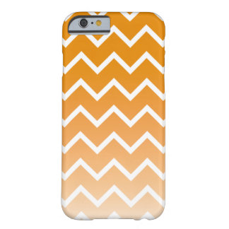 Burnt Prange Ombre Chevron Barely There iPhone 6 Case