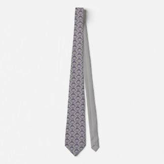 Burnt Purple and Silver Finial Pattern Neck Tie