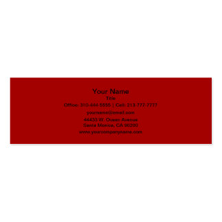Burnt Red Business Card