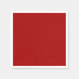 Burnt Red Paper Napkins