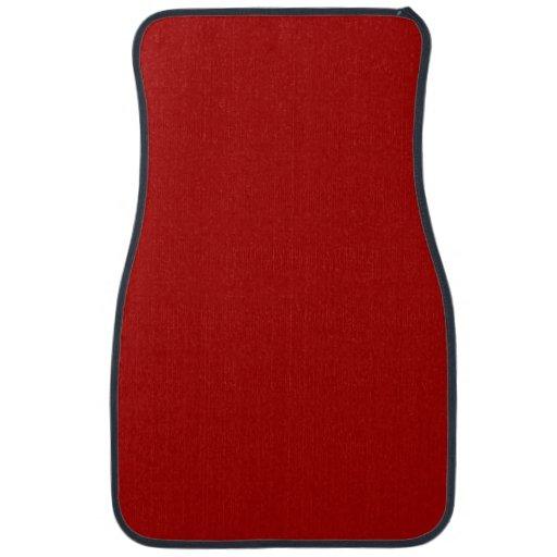 burnt red solid color car mat zazzle. Black Bedroom Furniture Sets. Home Design Ideas