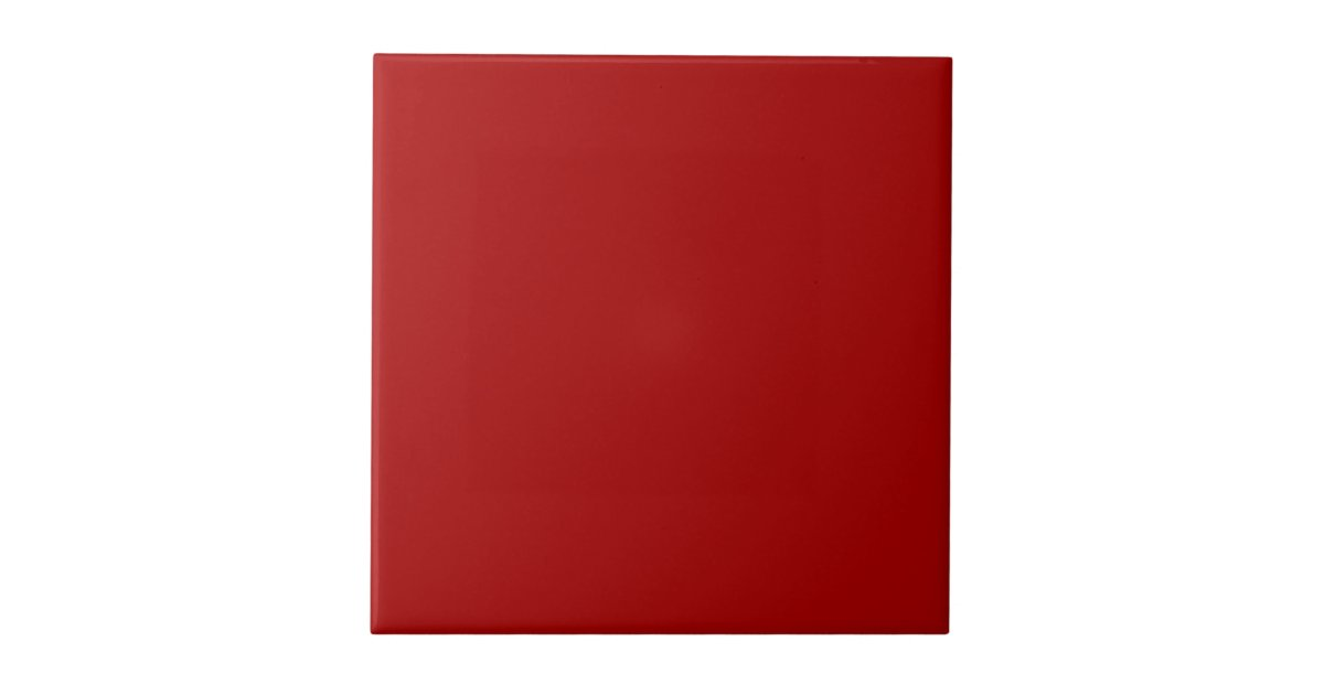 burnt red solid color ceramic tile zazzle. Black Bedroom Furniture Sets. Home Design Ideas
