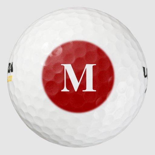 burnt red solid color golf balls zazzle. Black Bedroom Furniture Sets. Home Design Ideas