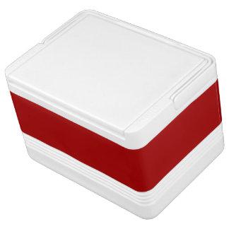 Burnt Red Solid Color Igloo Drink Cooler