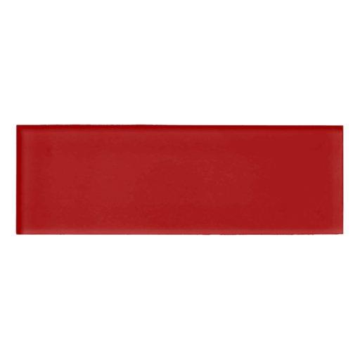 burnt red solid color name tag zazzle. Black Bedroom Furniture Sets. Home Design Ideas