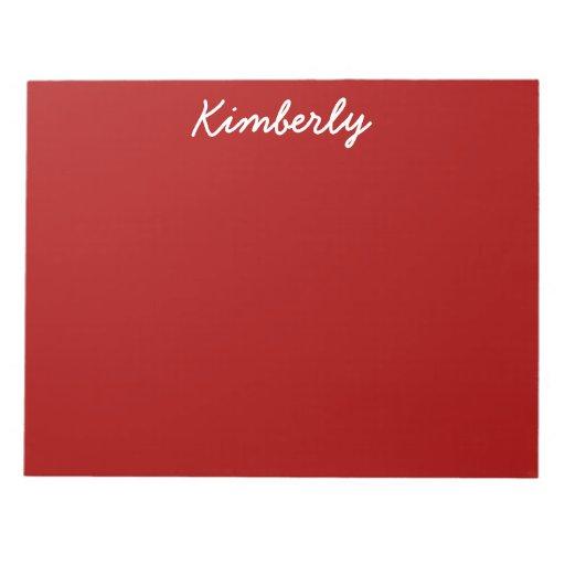 burnt red solid color notepad zazzle. Black Bedroom Furniture Sets. Home Design Ideas