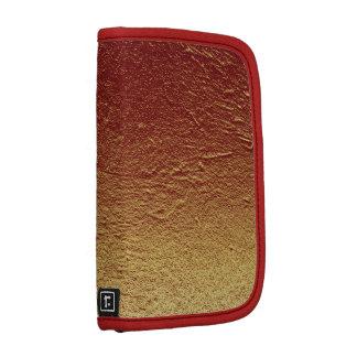 Burnt red terracotta gradient aluminum grunge planner