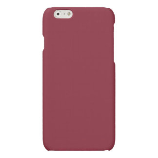 Burnt Ruby Bold Solid Color Matte iPhone 6 Case