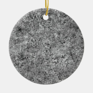 Burnt Sand Tiling Texture Double-Sided Ceramic Round Christmas Ornament