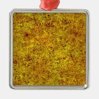 Burnt Sand Tiling Texture Square Metal Christmas Ornament