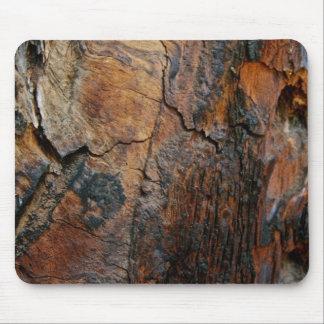 BURNT SEQUOIA TREE BARK DETAIL MOUSE PAD