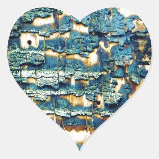 Burnt shingles heart sticker