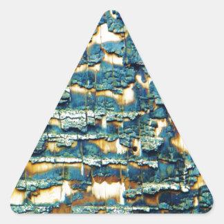 Burnt shingles triangle sticker