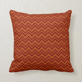 Burnt Sienna Chevron Designer Pillow