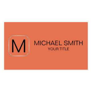 Burnt sienna color background business card