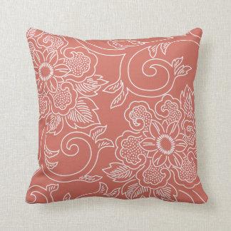 Burnt Sienna Floral Pillow