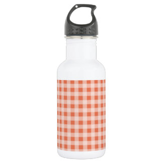 Burnt Sienna Gingham; Checkered Water Bottle